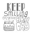 Black and white congratulation happy birthday vector image