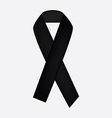 Black ribbon icon vector image