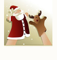 Christmas puppet show vector image
