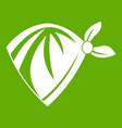 cowboy neckerchief icon green vector image