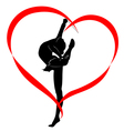 gymnastics logo vector image