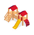 isometric playground building element vector image