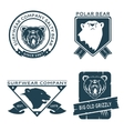Retro vintage bear head logo templates set vector image