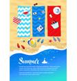 summer vacation design vector image