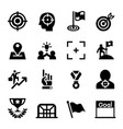 target goal aim mission icon set vector image