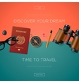 Tourism website template vector image