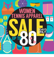 Women Tennis Apparel Sale Up To 80 Percent vector image