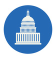 icon of united states capitol hill building vector image vector image