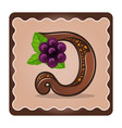 letter d candies chocolate vector image