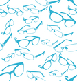 Seamless Blue Spectacle Pattern vector image