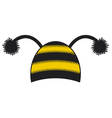 bee cap vector image