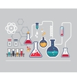 Chemistry infographic vector image