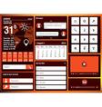 flat design elements for mobile app vector image