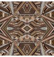Kaleidoscope made of brown tones ethnic patchwork vector image vector image