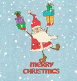 Santa Claus and presents vector image