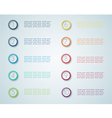 Infographic Numbered Steps 1 vector image