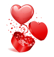 heart gift and balloon vector image