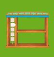 Game wooden shelf window vector image