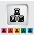 Blocks icon vector image