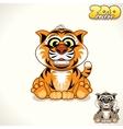 Cartoon Tiger Character vector image