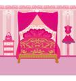 elegant pink bedroom vector image