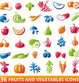 FruitsVegetablesSet vector image