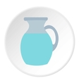 Jug of milk icon flat style vector image