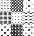Set of monochrome geometric seamless universal vector image