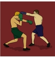 The two men are boxing vector image