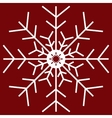 White Christmas snowflakes red seamless pattern vector image