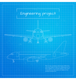 plane Engineering aircraft blueprint background vector image