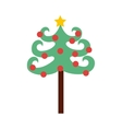 tree pine happy merry christmas vector image