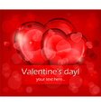 valentines day two hearts vector image