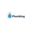 Water drop and wrench plumbing icon and logo vector image