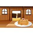 Pancakes in a plate vector image