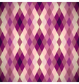 Pink diamond seamless pattern vector image