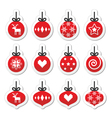Christmas ball christmas bauble red icons vector image