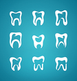 Icon painted teeth toothpaste vector image