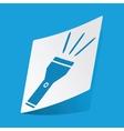 Flashlight sticker vector image