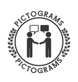pictograms human silhouettes vector image