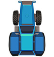 Top view of blue tractor vector image