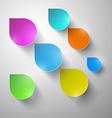 Colorful Paper Rain - Water Drops vector image vector image