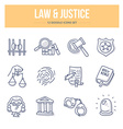 Law Justice Doodle Icons vector image