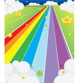 A colorful road vector image
