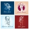 Beautiful woman abstract logo vector image