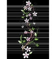 Card with blossoming oriental cherry branch vector image