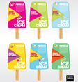 Colorful Popsicle Stick EPS10 vector image