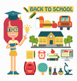 flat design back to school concepts vector image