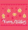 gingerbread cookies christmas set vector image
