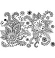 mehndi doodle elements set graphic collection - vector image